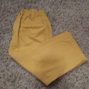 18 month baby boy yellow cargo pants